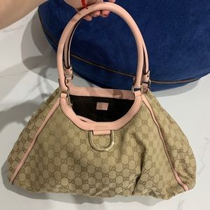 Gucci Authentic beige and pink trimming bag
